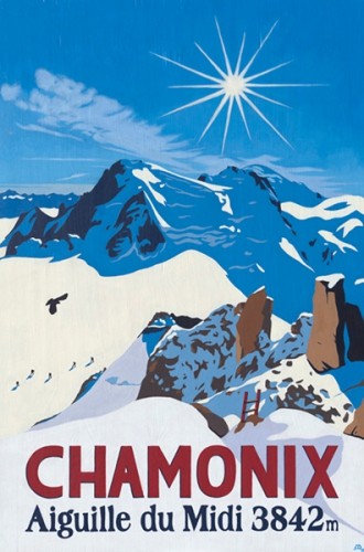 Aiguille du Midi, Chamonix, Painting by Lucy Dunnett