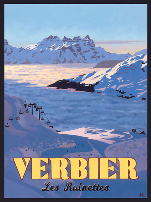 LES RUINETTES, VERBIER- By Lucy Dunnett