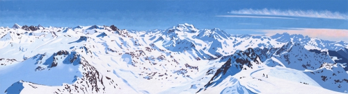 MONT FORT WINTER PANORAMA, VERBIER-By Lucy Dunnet