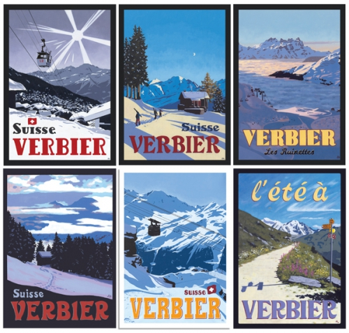 VERBIER POSTCARDS by Lucy Dunnet