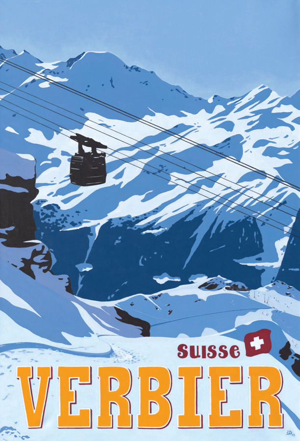 Image of PETIT COMBIN FROM ATTELAS, VERBIER by Lucy Dunnett