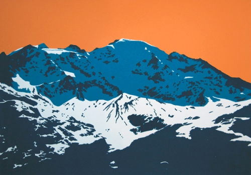 Petit Combin from Cabane Brunet (Blue and Orange)