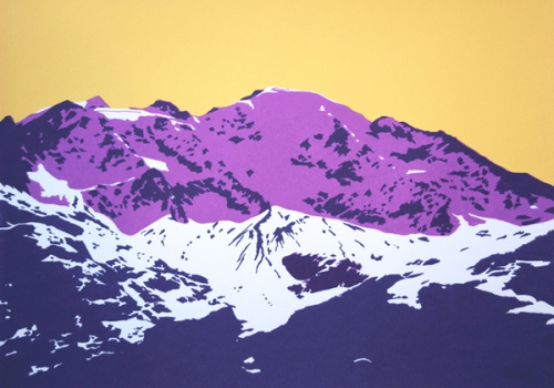 Petit Combin from Cabane Brunet (Purple and Yellow)