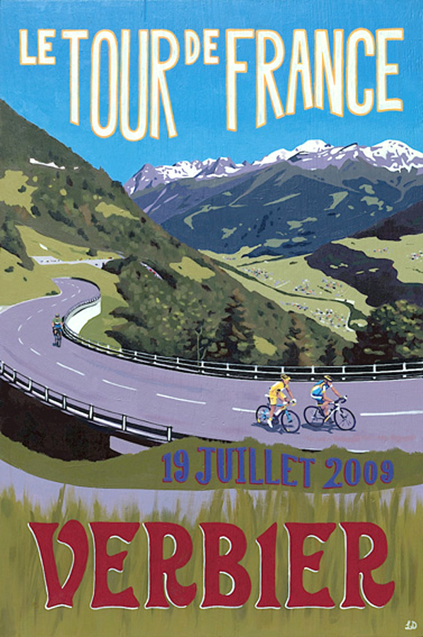 LE TOUR DE FRANCE, VERBIER By Lucy Dunnett