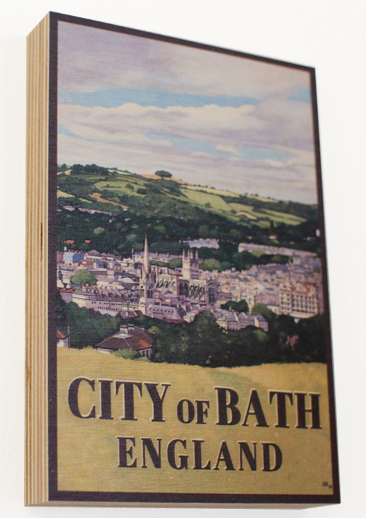 City of Bath Poster print on wood by Lucy dunnett